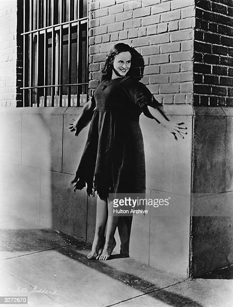 Paulette Goddard fomerly Marion Levy the American actress who was married to Charlie Chaplin from 1935 to 1942 She is standing barefoot and on tiptoe...