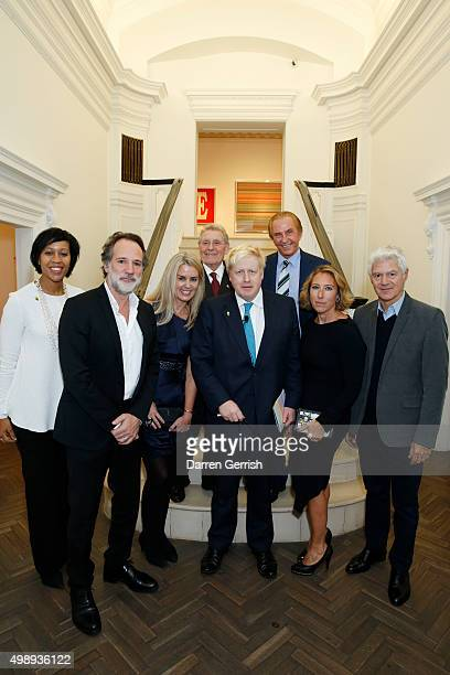 Paulette Rowe Paul Green Andrea Hamilton Tony Pidgley Geoffrey Kent Alisa Swidler and John Frieda attend a private view of the London Every Day...