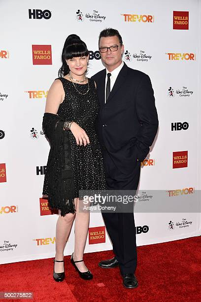 Pauley Perrette and Thomas Arklie attend the TrevorLIVE LA 2015 event at Hollywood Palladium on December 6 2015 in Los Angeles California