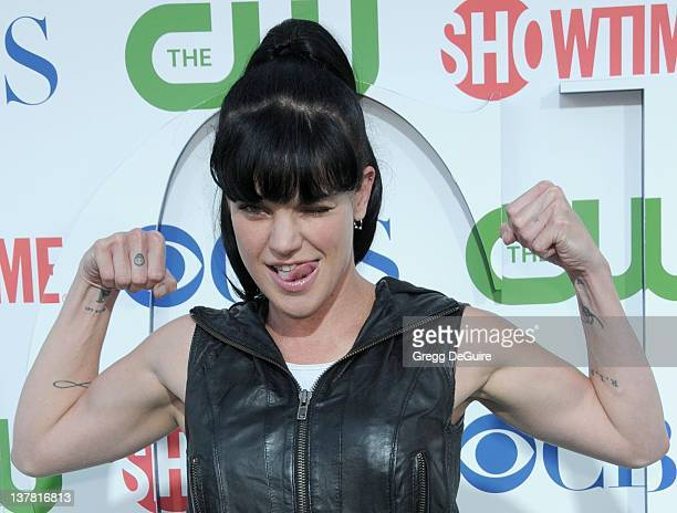 Pauley Perrette arrives at the CBS The CW Showtime Summer Press Tour Party held at The Tent on July 28 2010 in Beverly Hills California