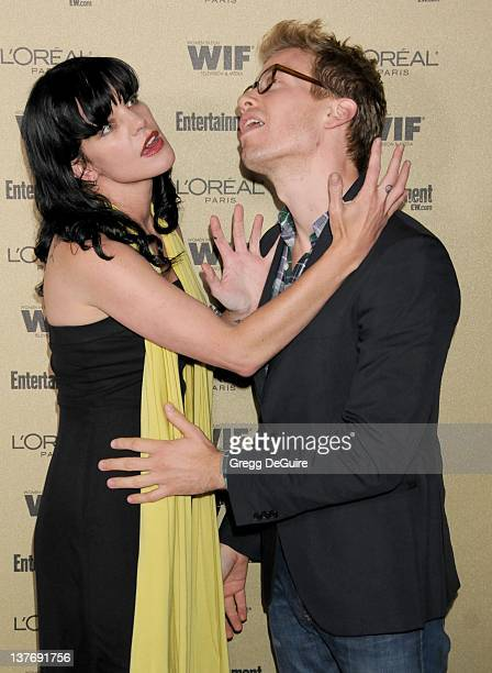 Pauley Perrette arrives at the Entertainment Weekly and Women In Film PreEmmy Party at the 'Restaurant' at the Sunset Marquis Hotel on August 27 2010...