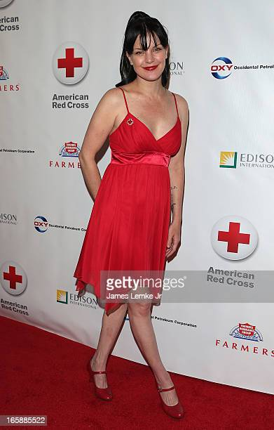 Pauley Perrette attends the 7th Annual American Red Cross Red Tie Affair held at the Fairmont Miramar Hotel on April 6 2013 in Santa Monica California