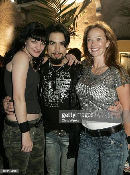 Pauley Perrette Dave Navarro and Lauren Holly during Belvedere Vodka Hosts the Second Rock Star INXS Mansion Jam at Private Residence in Los Angeles...