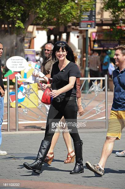 Pauley Perrette is sighted at Universal Studios Hollywood on September 18 2013 in Los Angeles California