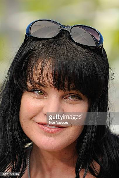 Pauley Perrette visits 'Extra' at Universal Studios Hollywood on October 13 2014 in Universal City California