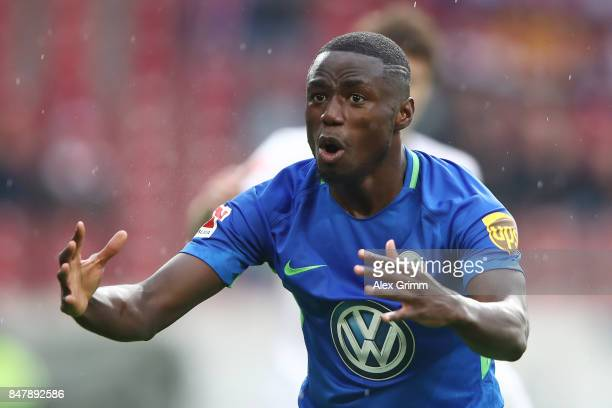 PaulGeorges Ntep go Wolfsburg after he missed a chance during the Bundesliga match between VfB Stuttgart and VfL Wolfsburg at MercedesBenz Arena on...