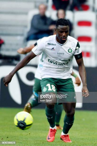 PaulGeorges NTEP of Saint Etienne during the Ligue 1 match between OGC Nice and AS Saint Etienne at Allianz Riviera Stadium on January 21 2018 in...