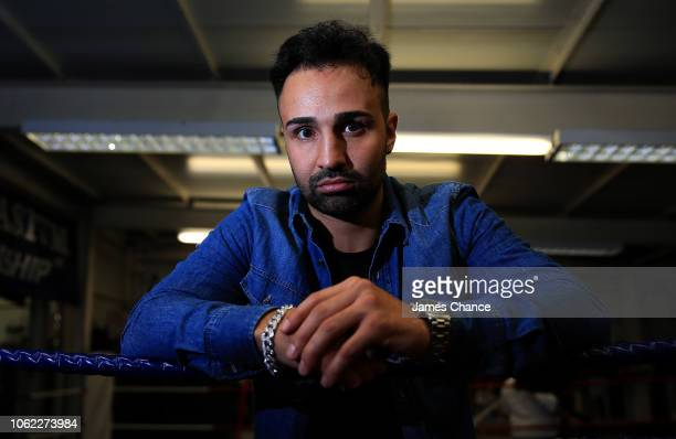 Paulie Malignaggi poses for a portrait after the Aaron Chalmers and Paulie Malignaggi Training Session at the Peacock Gym on November 01 2018 in...