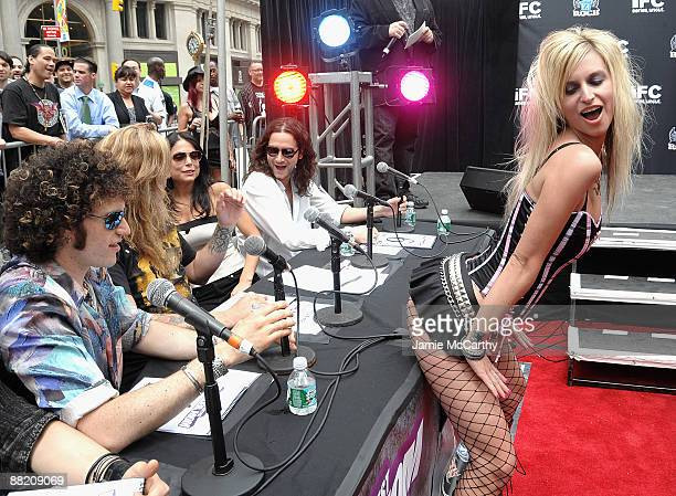 Paulie Z of Z Rock Sebastian Bach Bethanny Frankel and Constantine Maroulis with Hottest Rocker Mom Contestant Shawna Owens attend America's Hottest...