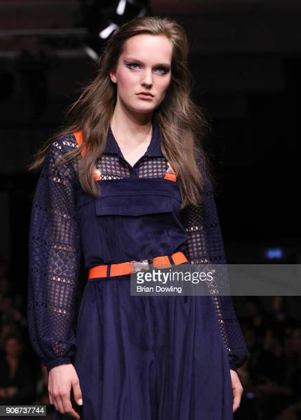 Paulina Anna walks the runway during the Maybelline Show 'Urban Catwalk Faces of New York' at Vollgutlager on January 18 2018 in Berlin Germany