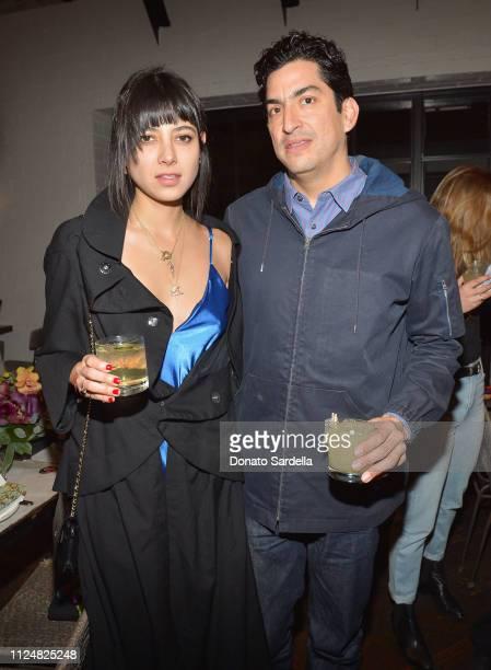 Paulina Barragan and Eduardo Sarabia attend Liz Goldwyn and MATCHESFASHIONCOM celebrate the launch of Frieze LA at Gracias Madre on February 13 2019...