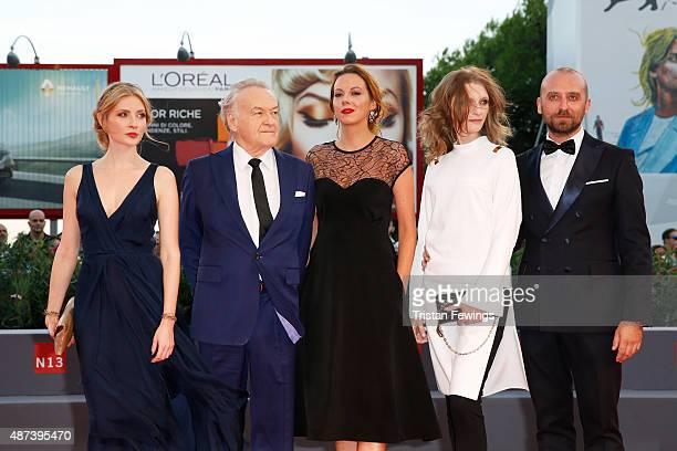 Paulina Chapko Jerzy Skolimowski Anna Maria Buczek Agata Buzek and Wojciech Mecwaldowski attend a premiere for '11 Minutes' during the 72nd Venice...