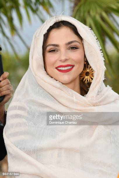 Paulina Davila attends 'Aqui En La Tierra' Photocall during the 1st Cannes International Series Festival on April 10 2018 in Cannes France