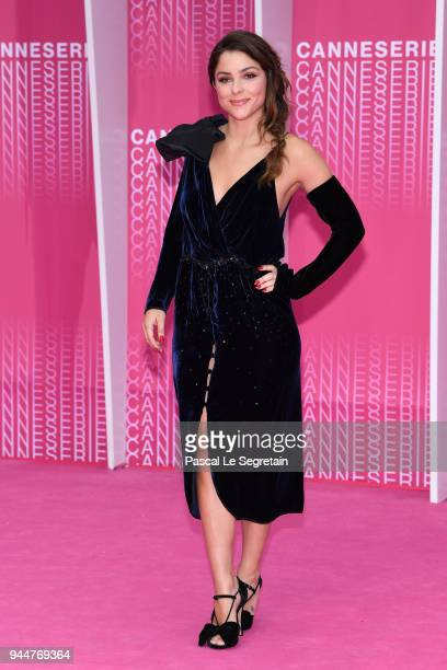Paulina Davila from the serie 'Aqui en la tierra' attends the Closing Ceremony and 'Safe' screening during the 1st Cannes International Series...