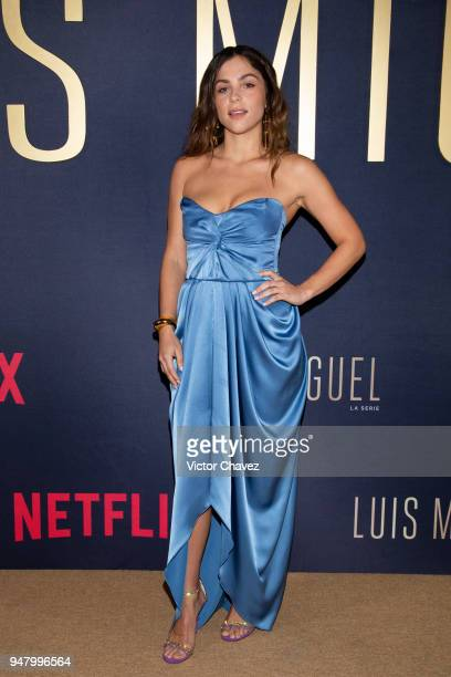 Paulina Davila poses during the Netflix Luis Miguel Premiere Red Carpet at Cinemex Antara on April 17 2018 in Mexico City Mexico