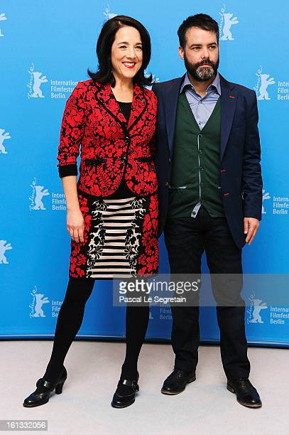 Paulina Garcia and director Sebastian Lelio attend the 'Gloria' Photocall during the 63rd Berlinale International Film Festival at the Grand Hyatt...