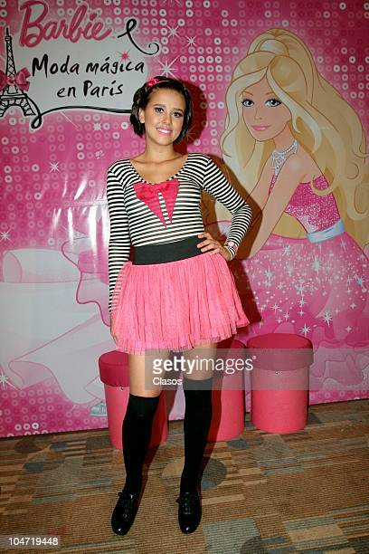 Paulina Goto during the premiere of the movie Barbie Moda Magica En Paris on October 3 2010 in Mexico City Mexico Premier de la pelicula Moda Barbie...