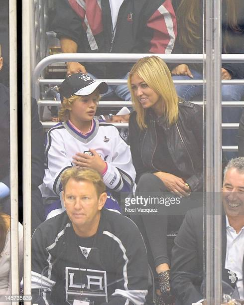 Paulina Gretzky attends game three of the 2012 Stanley Cup Final between the Los Angeles Kings and the New Jersey Devils at Staples Center on June 4...