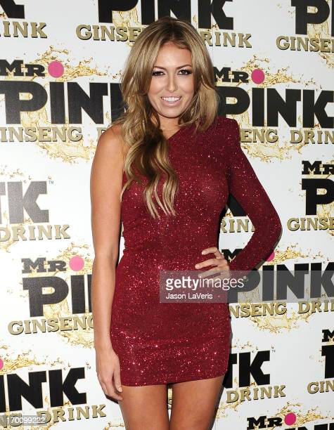 Paulina Gretzky attends the Mr Pink Ginseng Drink launch party at Regent Beverly Wilshire Hotel on October 11 2012 in Beverly Hills California