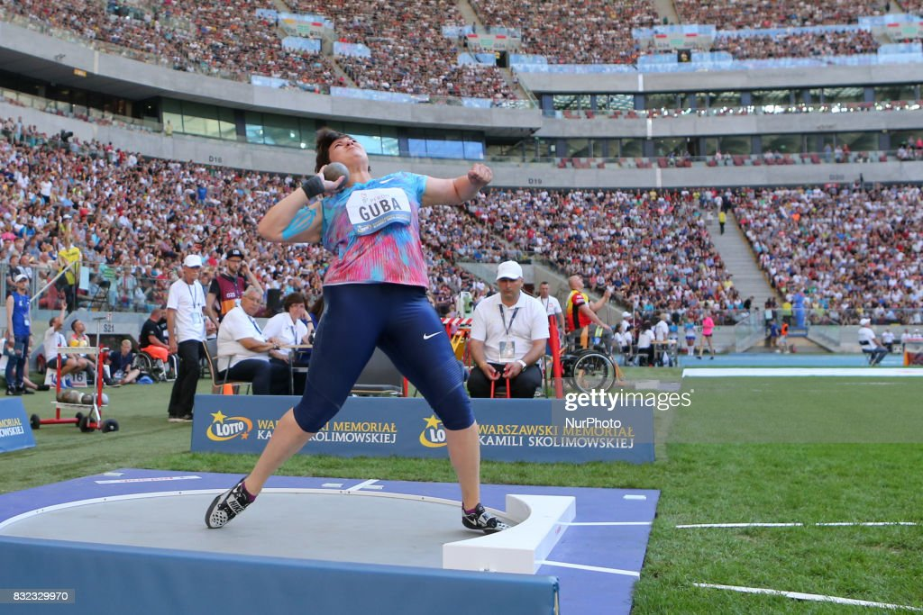 Paulina Guba (POL), in action during the 5th Kamila Skolimowska Memorial of athletics in Warsaw, Poland, on 15 August, 2017.