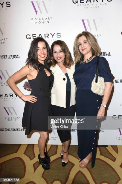 Paulina Hekmat Angella Nazarian and Farnaz Abrishami attend Visionary Women Presents The New Normal How Social Media is Reshaping Your Life at The...