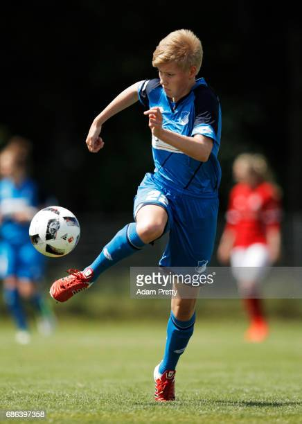 Paulina Krumbiegel of Hoffenheim II in action during the match between 1899 Hoffenheim II and FCB Muenchen II at St Leon football ground on May 21...