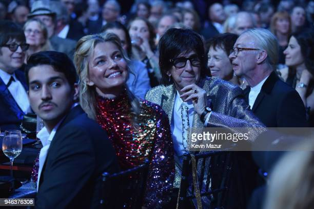 Paulina Porizkova and inductee Ric Ocasek of The Cars attend 33rd Annual Rock Roll Hall of Fame Induction Ceremony at Public Auditorium on April 14...