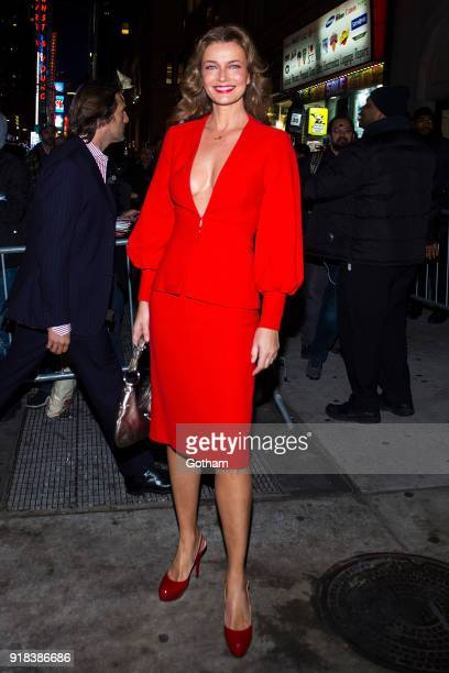 Paulina Porizkova attends the Sports Illustrated Swimsuit 2018 launch event at the Moxie Hotel on February 14 2018 in New York City