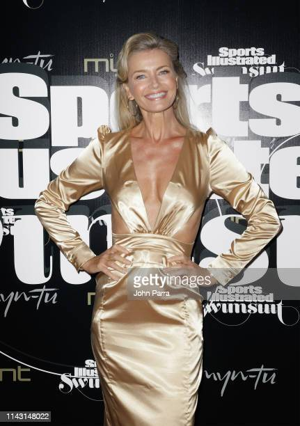 Paulina Porizkova attends the Sports Illustrated Swimsuit Celebrates 2019 Issue Launch at MynTu on May 11 2019 in Miami Florida