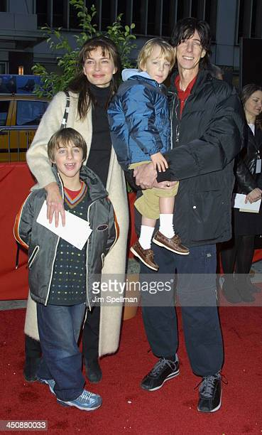 Paulina Porizkova Ric Ocasek Family during Harry Potter and The Sorcerer's Stone New York Premiere at The Ziegfeld Theatre in New York City New York...