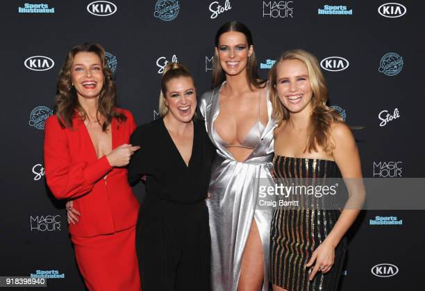 Paulina Porizkova Taylor Ballantyne Robyn Lawley and Sailor Lee BrinkleyCook attend Sports Illustrated Swimsuit 2018 Launch Event at Magic Hour at...
