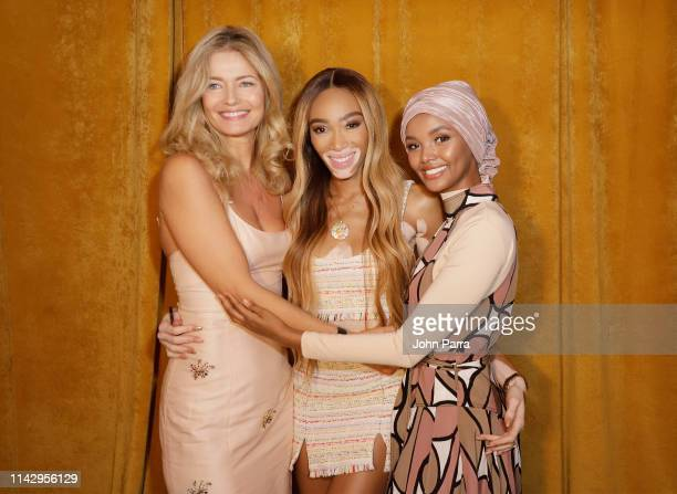 Paulina Porizkova Winnie Harlow and Halima Aden attend the Sports Illustrated Swimsuit On Location Day 2 at Ice Palace on May 11 2019 in Miami Florida