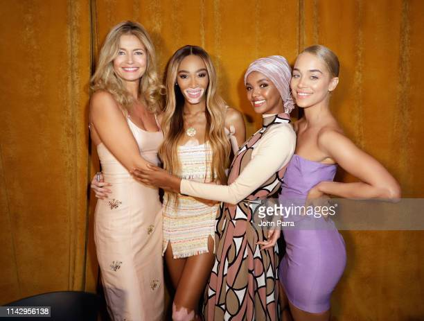 Paulina Porizkova Winnie Harlow Halima Aden and Jasmine Sanders attend the Sports Illustrated Swimsuit On Location Day 2 at Ice Palace on May 11 2019...