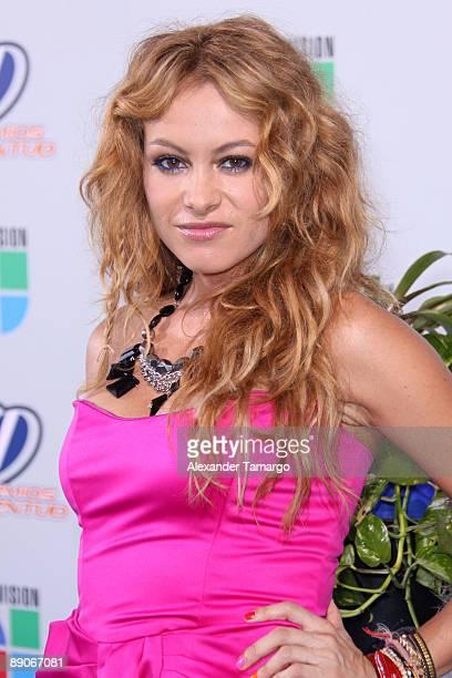 Paulina Rubio arrives at Univision's Premios Juventud Awards 2009 at Bank United Center on July 16 2009 in Coral Gables Florida