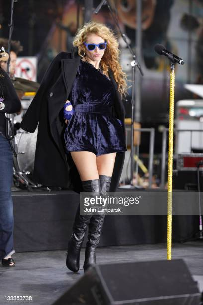 Paulina Rubio attends the launch of the ''Lo Mejor On Demand'' channel in Times Square on October 23 2009 in New York City