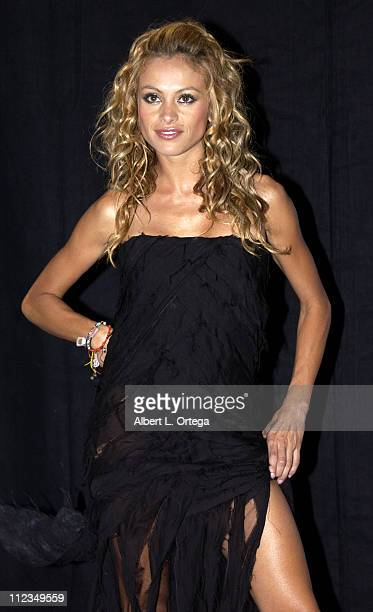Paulina Rubio during 2002 ALMA Awards Gala Press Room at The Shrine Auditorium in Los Angeles California United States