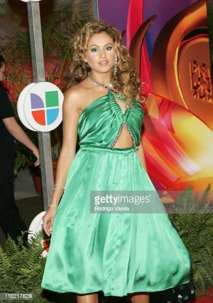 Paulina Rubio during 2005 Premio Lo Nuestro Awards Red Carpet at American Airlines Arena in Miami Florida United States