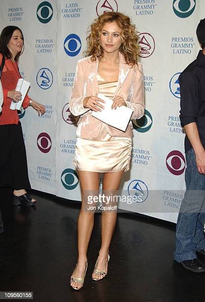 Paulina Rubio during 5th Annual Latin Grammy Nominations Press Conference at The Mayan in Los Angeles California United States