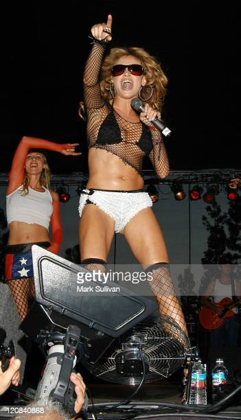 Paulina Rubio during 5th Annual Latin Pride Festival 2003 at Downtown Los Angeles in Los Angeles California United States