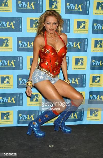 Paulina Rubio during MTV Video Music Awards Latinoamerica 2002 Arrivals at Jackie Gleason Theater in Miami Florida United States