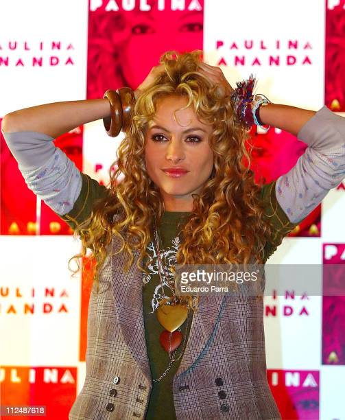 Paulina Rubio during Paulina Rubio Launches her New Album 'Ananda' in Madrid September 26 2006 at Palace Hotel in Madrid Spain
