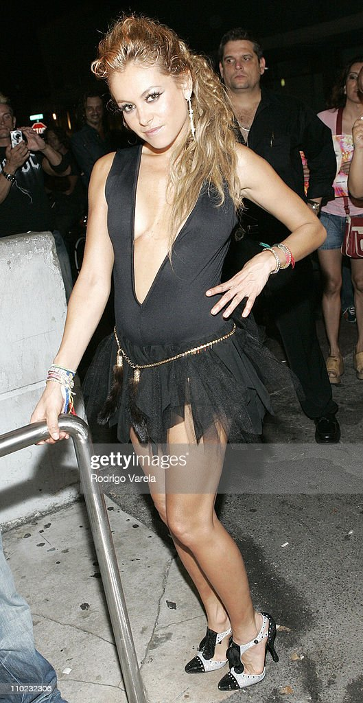 Paulina Rubio Makes an Appearance at Score Night Club in Miami - May 31, 2005