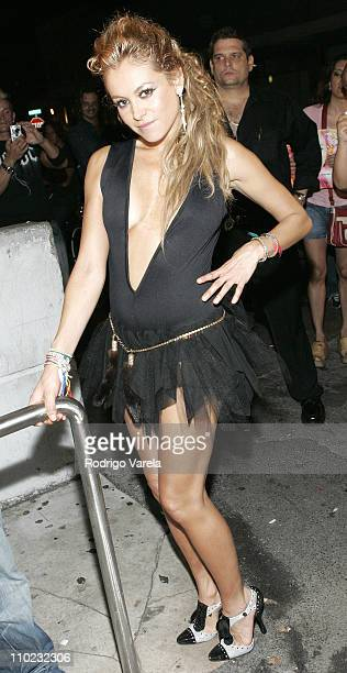 Paulina Rubio during Paulina Rubio Makes an Appearance at Score Night Club in Miami May 31 2005 at Score Night Club in Miami Beach Florida United...