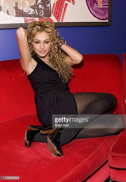 Paulina Rubio during Paulina Rubio Visits MTV's 'Mi TRL' October 13 2006 at TRL Studios in New York City New York United States