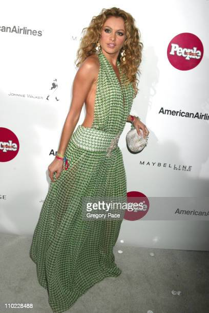 Paulina Rubio during People En Espanol's 4th Annual 50 Most Beautiful Gala White Carpet Arrivals at Capitale in New York City New York United States