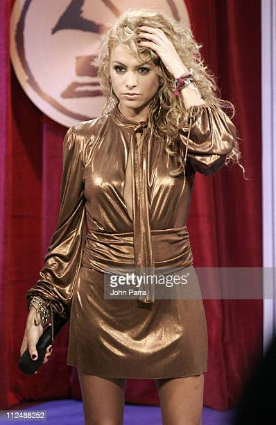 Paulina Rubio during The 7th Annual Latin GRAMMY Awards Celebra Nuestra Musica Backstage at Univision Studios in Miami Florida United States