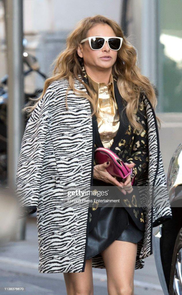 ESP: Paulina Rubio Sighting in Madrid - March 25, 2019