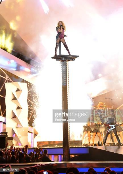 Paulina Rubio performs at Billboard Latin Music Awards 2013 at Bank United Center on April 25 2013 in Miami Florida