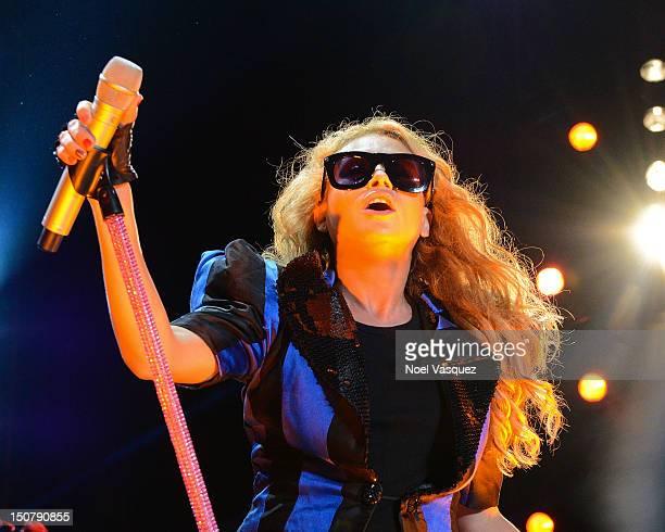 Paulina Rubio performs at Univision Radio's H2O music festival at Los Angeles State Historic Park on August 25 2012 in Los Angeles California