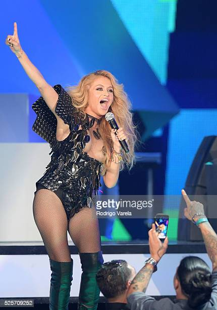 Paulina Rubio performs onstage at the Billboard Latin Music Awards at Bank United Center on April 28 2016 in Miami Florida